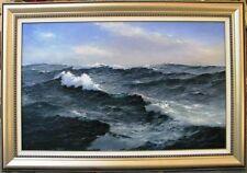 "Ian Hansen huge original oil titled ""Bass Strait"" Australia"