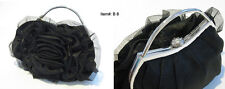 New #B8 Black Rose Lolita Evening Purse Clutch Closure Bag Party - Handbag