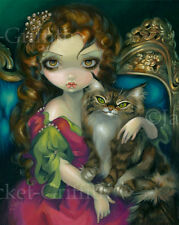 Jasmine Becket-Griffith art print SIGNED rococo Princess with a Maine Coon Cat