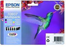 Genunie Epson T0807 impresión cartucho de tinta t0801-t0806 Original Para Impresora Epson