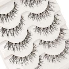 5Pares Pestañas postizas hecha a mano  latigazos ojo maquillaje Eyelashes BGHG