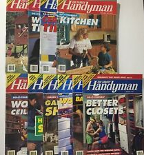 10 PC Lot The Family Handyman Magazines Do-It-Yourself 1992-1993 Free Ship