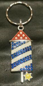Rocket keyring brand new with star detail