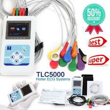 TLC5000 12 Channel Dynamic ECG Holter 24 Hours EKG Record Software Anayzer USB