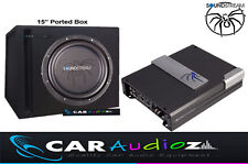 "Soundstream 15"" Car Subwoofer Ported Box Amplifier Kit Package Car Audio Quality"