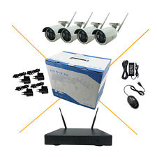 4CH HD 960P Wireless Camera System WIFI NVR Network P2P Outdoor Security 3IR Cut