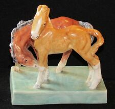 ~RARE Vintage 1939 Doris Lindner Royal Worcester FOALS Ceramic Horse Figurine~