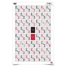 """(5) Eze-Scorer 52-Card Shoot-Up Paper Target, 23"""" x 35"""""""