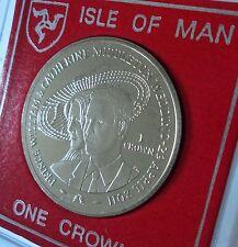 2011 Isola di Man PRINCIPE WILLIAM & KATE MIDDLETON Matrimonio Reale Corona Moneta (BU)