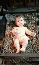 Bambino Gesù resina culla 42 cm MINIATURA PRESEPE shereped S.GREGORIO jesus crib