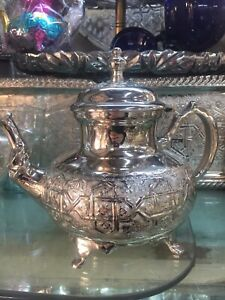 Handmade Moroccan Silver Plated Teapot X LARGE