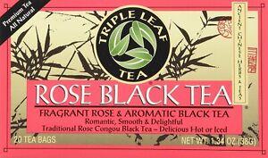 Rose Black Tea by Triple Leaf, 20 tea bag 1 pack