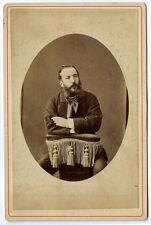 Rare Photo cdv autoportrait du photographe Ulysse Chabrol Clermont Ferrand 1880