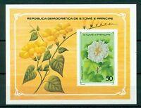 SAO TOME & PRINCIPE*1979 * M/Sheet * MNH** Flowers - Mi. No BL33