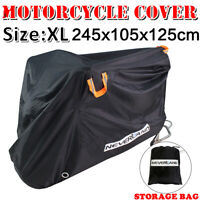 XL Heavy Duty Waterproof Motorcycle Motorbike Cover Storage Rain Dust Protector
