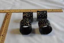 "4 pc,Buffalo Horn, Napkin Ring, Black With Design ,1.1/2""dia1.1/2""high(38x38mm)"