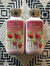 Bath & Body Works Sun-Ripened Raspberry Body Lotion 8 Oz, Lot Of 2, New, Sealed