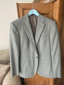 42R Gieves & Hawkes Wool Blazer Sports Suit Jacket - Greenish Check Wool