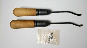 2 DEM-BART 3-16 GUN STOCK CHECKERING TOOLS W/ EXTRA TIPS
