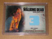 ✨☠ BETH EMILY KINNEY 2014 WALKING DEAD WARDROBE COSTUME SHIRT RELIC M5 CARD ✨☠