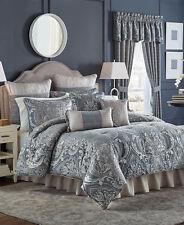 NIOP Croscill Home Gabrijel Slate Blue Jacquard Queen Comforter Set 4pc