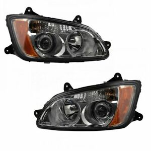 Headlight Lamp Assembly LH RH Kit Pair Set of 2 for Kenworth HD Truck New