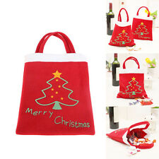 2pcs Christmas Tree Santa Claus Candy Bags Gift Bag Home Party Ornaments Decor
