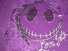2XL Jack Skellington Purple ~ Love Jack ~ Woman's V-Neck Disney Tee Shirt NWT