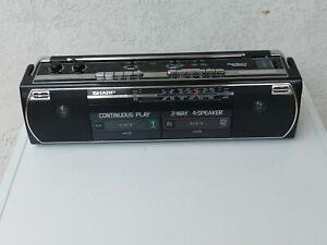 Sharp   Radio AM FM Cassette Boom Boom Box