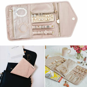 Foldable Jewelry Case Pouch Roll Travel For Journey Organiser Jewellery