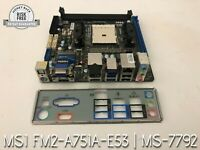 MSi Mini-ITX AMD A75 Mother Board w/ IO Shield, WiFi+BT, FM2-A75IA-E58, MS-7792
