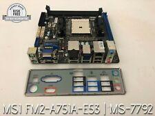 MSi Mini-ITX AMD A75 Mother Board w/ IO Shield, WiFi+BT, FM2-A75IA-E58, MS-7792