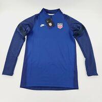 Nike USA Soccer Strike Drill Top Soccer Blue CD2198-455 Mens Sizes Small NWT