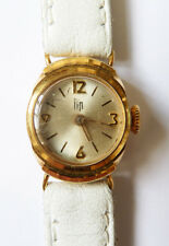 Montre femme LIP en OR massif mécanique ancien gold watch