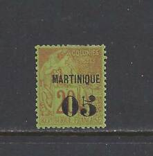 """MARTINIQUE - #6 - MH - 1886 - """"MARTINIQUE + 05"""" O/P ON FRENCH COLONIES STAMP"""