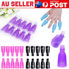 10X Colorful Nail Polish Remover Clips Nail Art Soak off Tool Manicure Cap Wrap