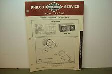 PHILCO RADIO-CLOCK SERVICE MANUAL MODEL B804