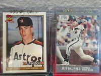 JEFF BAGWELL HOUSTON ASTROS 1991 TOPPS TRADED RC & 1991 ULTRA UPDATE RC 2 CARDS!