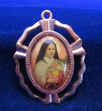 St Theresa of the Little Flower Medal Color Image Beautiful Coppertone Frame