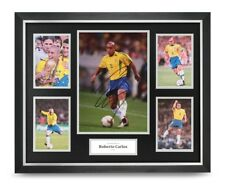 Roberto Carlos Signed Photo Large Framed Brazil Display Autograph Memorabilia