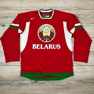 Belarus Nike Ice Hockey IIHF Men's Jersey Shirt Trikot  Rare Беларусь size M
