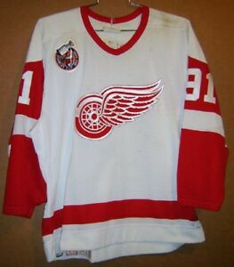 1993 DETROIT RED WINGS SERGEI FEDEROV #91 White STANLEY CUP ANNIVERSARY JERSEY