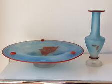 Monica Backström Kosta Boda Art Schale und Vase