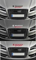 For 'PEUGEOT SPORT' - 1 x BONNET VINYL CAR DECAL STICKER - 206 - 293mm long