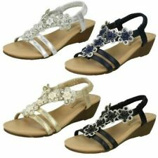 Ladies Savannah Mid Wedge Slingback 'Sandals'
