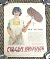 """Vintage Filler Brush Advertising Poster 23 X 18"""" Collectible Rare New"""