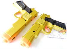 Toy Gun Military Detective 2x 9MM Pistol Cap Guns - GOLD