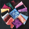 Men Paisley Jacquard Silk square Wedding pocket Hanky Handkerchief