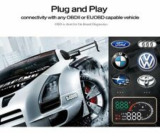 "Car HUD Head Up Display Fuel Speed Warning System Windshield Project OBDII X6 3"""