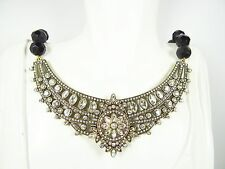 """HEIDI DAUS """"French Twist"""" Beaded Crystal Collar Necklace with Removable Drop/Pin"""